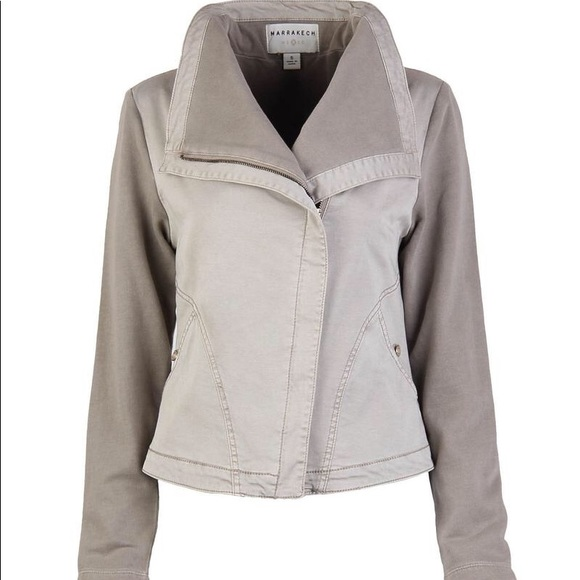 Grey Utility Jacket From Anthropologie